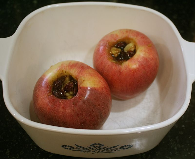 Baked Apples in dish