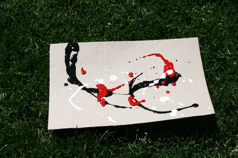 Kids Olivia Jackson Pollock Art Project