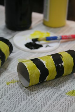 Paper Tube Wasp Kids Craft