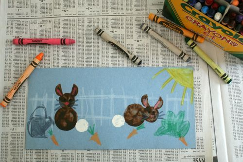 Carrot Rabbit Stamps