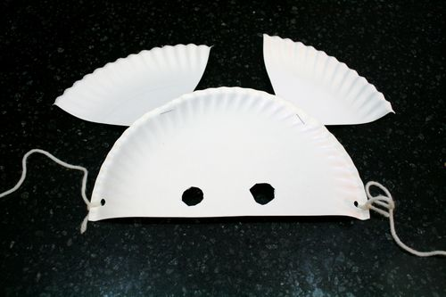 Paper Plate Mouse Mask