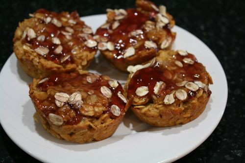 Peanut Butter and Jelly Granola Bites