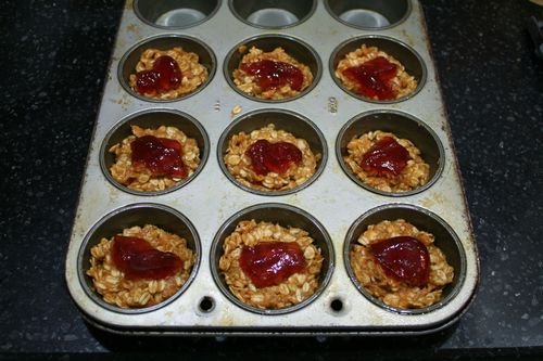 Peanut Butter and Jelly Granola Cups
