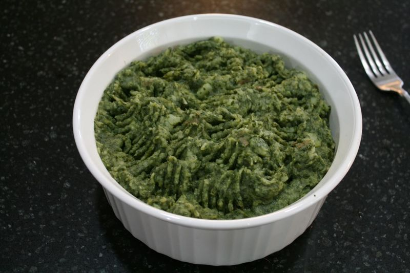 Green Monster Mashed Potatoes