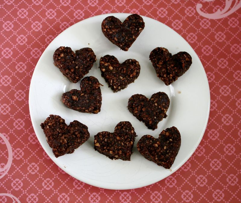 No Cook Chocolate Valentine Hearts