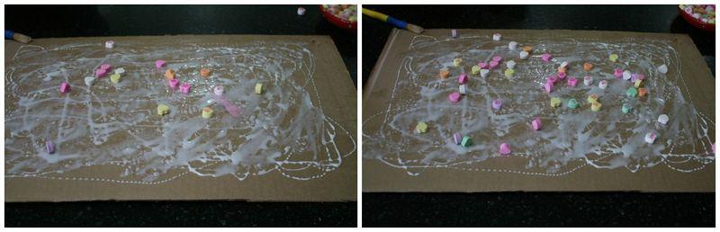 Raining Hearts Action Painting 2
