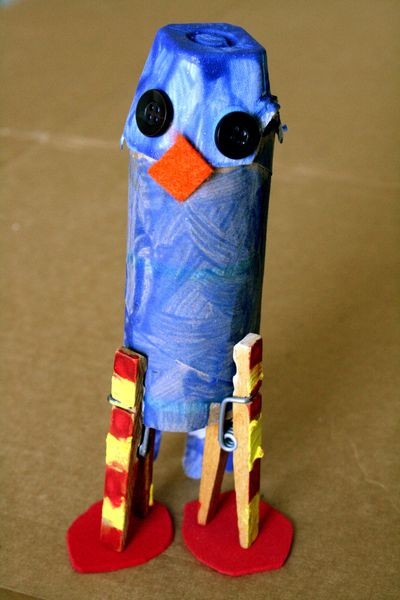 Found Object Bird Craft
