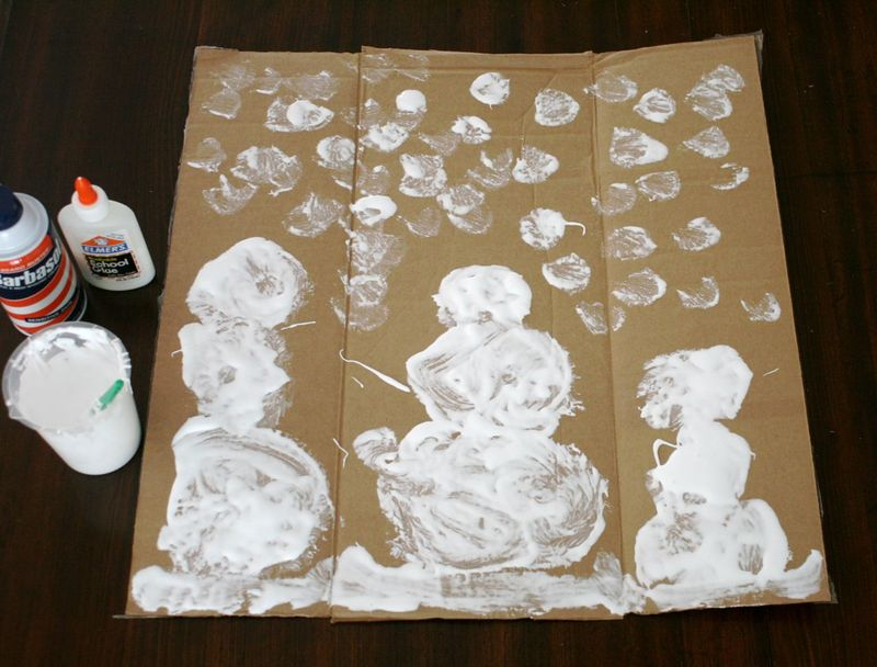 Snowballs Shaving Cream Puffy Paint