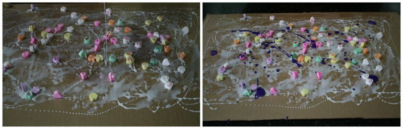 Raining Hearts Action Painting 3