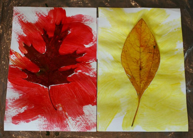Leaf Burst Painting