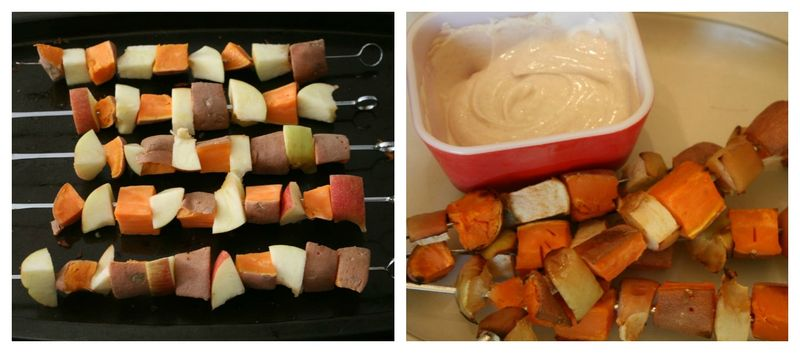 Sweet potato apple kabobs