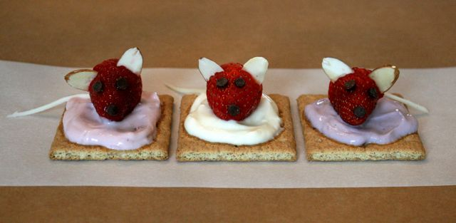 Fruit and Yogurt Mice Squares - Mouse Paint - Off the Shelf