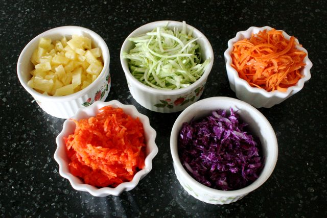 A Veggie Painting + Rainbow Slaw - A Day with No Crayons - Off the Shelf
