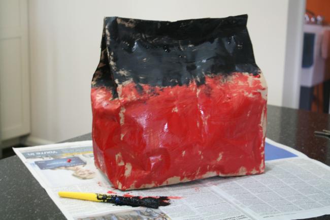 Brown Paper Bag Barn Craft - Big Red Barn - Off the Shelf