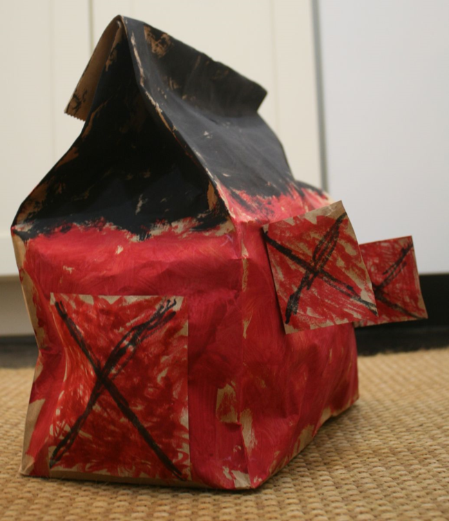 Brown Paper Bag Barn Craft - Big Red Barn - Off the Shelf