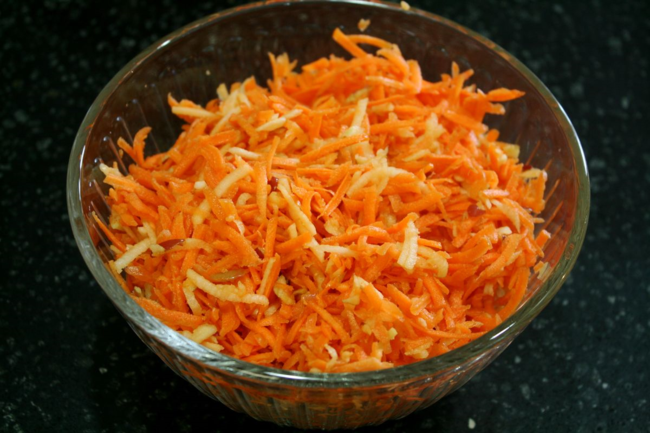 Carrot Apple Salad with Feta Dressing - Big Red Barn - Off the Shelf