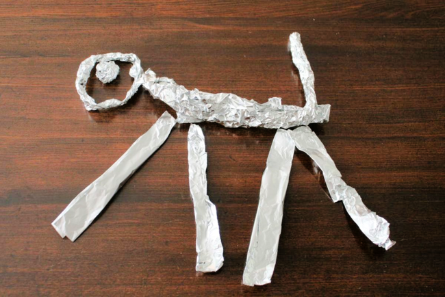 Tin Foil Aluminum Sculptures - The Knight and the Dragon - Tomie dePaola - Off the Shelf