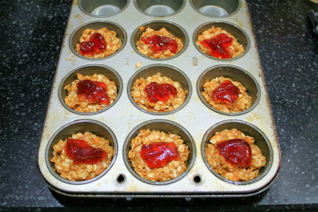 Peanut Butter and Jelly Granola Cups - If You Take a Mouse to School - Off the Shelf