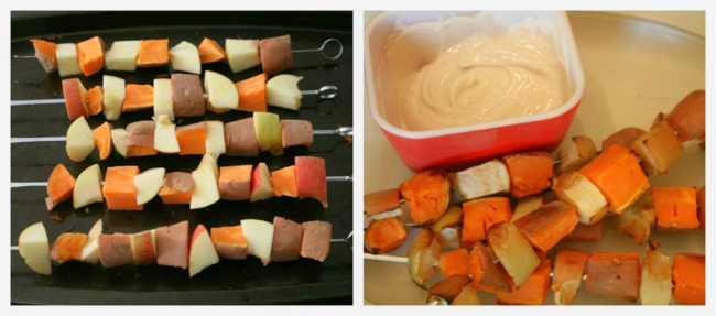 Knight and Dragon (Sweet Potato-Apple) Kabobs - The Knight and the Dragon - Tomie dePaola - Off the Shelf