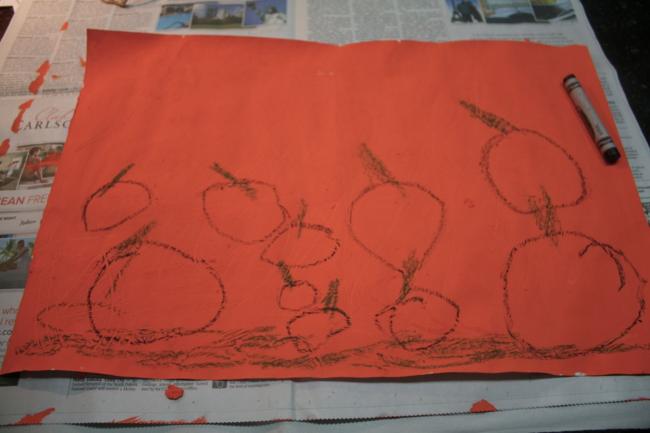Pumpkin Patch Painting - Big Pumpkin - Erica Silverman - Off the Shelf