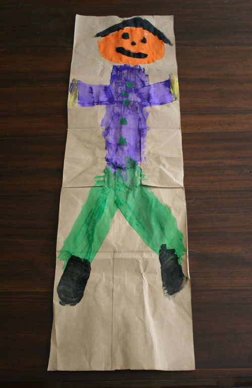 Scarecrow Banner Craft - The Little Old Lady Who Was Not Afraid of Anything - Off the Shelf