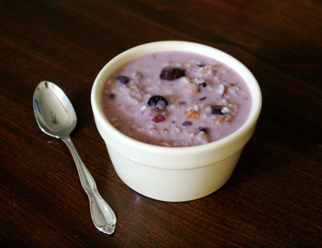 Three Bears' Oatmeal Porridge with Berries and Nuts Recipe - Goldilocks and the Three Bears - Jan Brett - Off the Shelf
