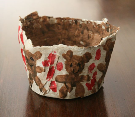 Three Bears' Paper Mache Porridge Bowls - Goldilocks and the Three Bears - Jan Brett - Off the Shelf