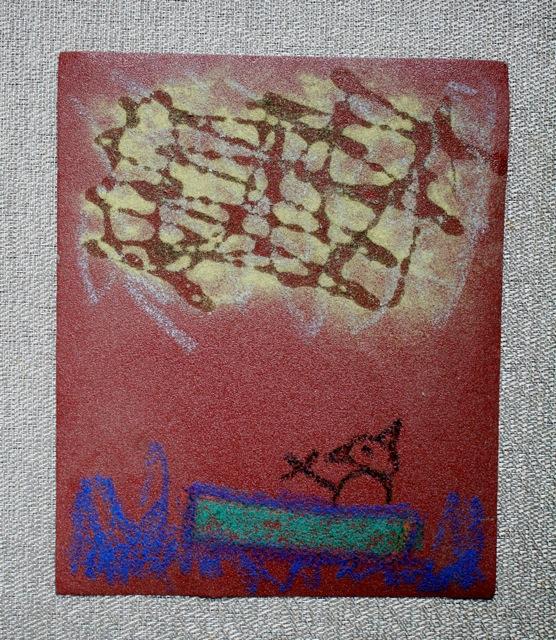 Sandpaper Art with Herb Glitter - Three by the Sea - Mini Grey - Off the Shelf