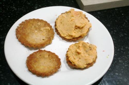Spider Crackers with Sweet Potato Hummus - Very Bust Spider - Eric Carle - Off the Shelf