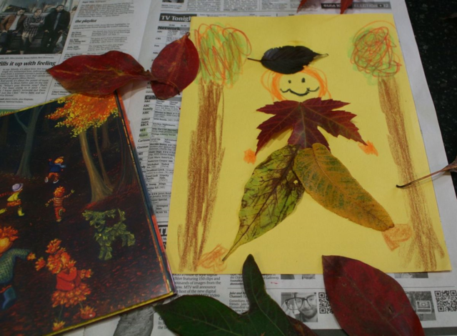 Harvest Moon Nature Collage Art Project - By the Light of the Harvest Moon - Off the Shelf