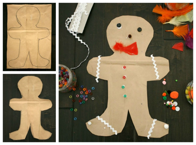Brown Paper Gingerbread Baby Collage - Gingerbread Baby - Off the Shef