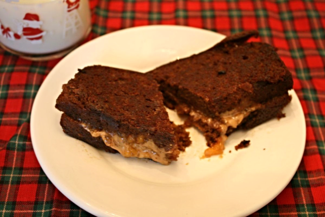 Grilled Gingerbread Sandwiches with Peanut Butter and Peach Jam- Gingerbread Baby - Off the Shelf