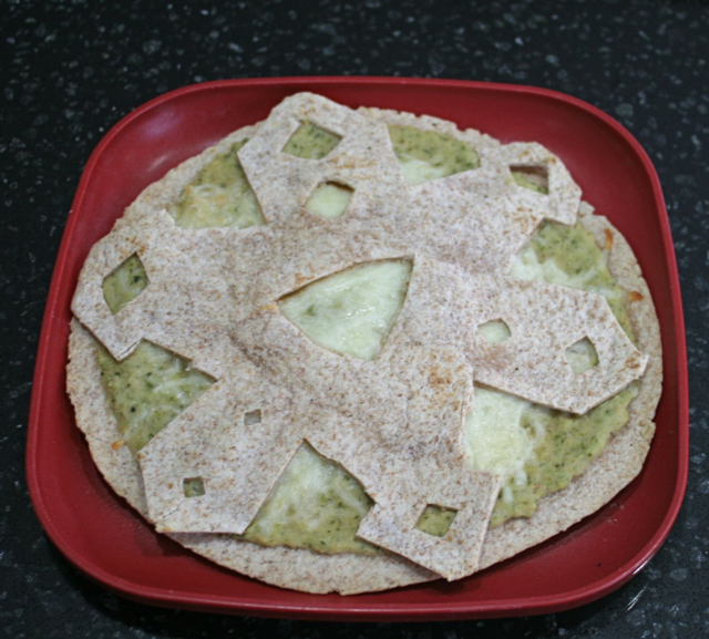 Snowflake Quesadilla with Zucchini Spread and Mozzarella - The Snowy Day - Ezra Jack Keats - Off the Shelf