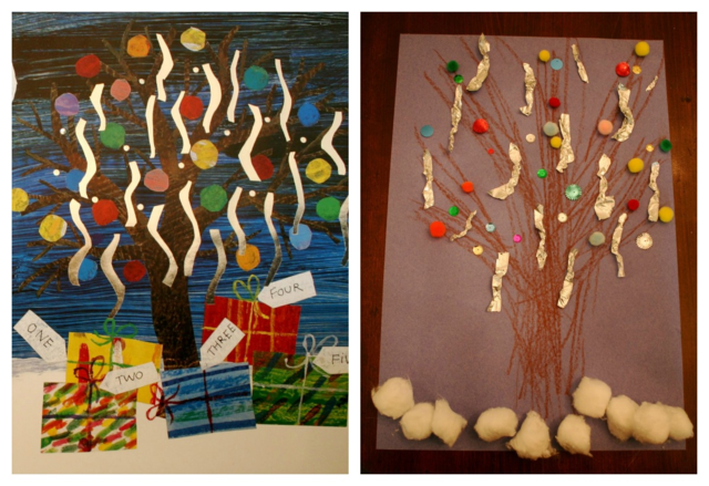 Farmer's Tree Collage Art Project - Dream Snow by Eric Carle - Off the Shelf
