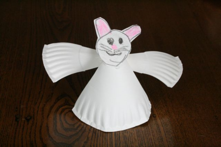 Paper Plate Angel Ornament Craft - If You Take a Mouse to the Movies - Off the Shelf