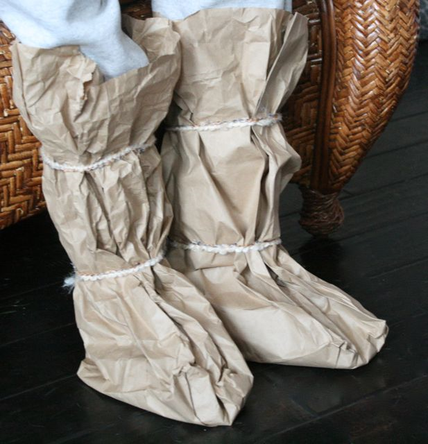Paper Bag Inuit Boots Craft - The Three Snow Bears - Jan Brett - Off the Shelf